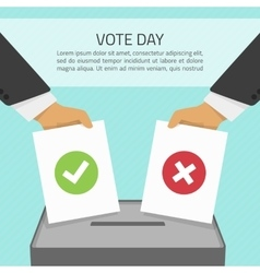 Vote day vector