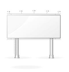 white billboard screen template vector image vector image