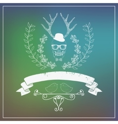 Hipster style banner with blurred background in vector