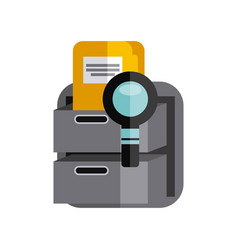 office supplies set icons vector image
