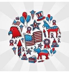 Usa elections style icons vector