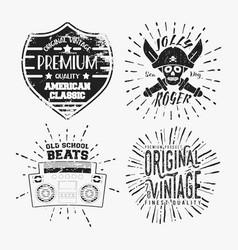Set of various vintage stamp vector