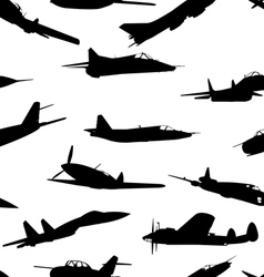 Combat aircraft silhouettes seamless wallpaper vector