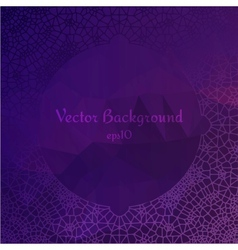 Lace ornament circle design on diamond background vector image