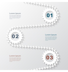 Paper gears infographic 3 vector