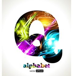 Design abstract letter q vector