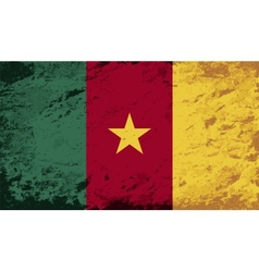 Cameroon flag grunge background vector