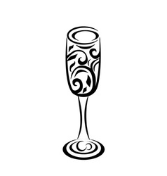 Abstract champagne glass vector