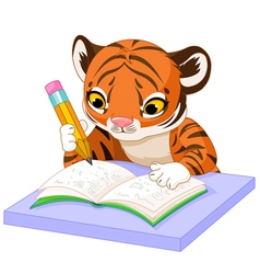 Tiger Learns vector image