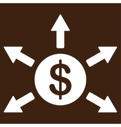 Cashout icon from business bicolor set vector