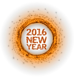 New year as abstract fireworks vector