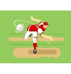 Baseball player cartoon character vector
