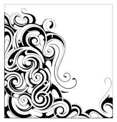Liquid ornament with copy space area vector