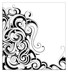 Liquid ornament with copy space area vector image