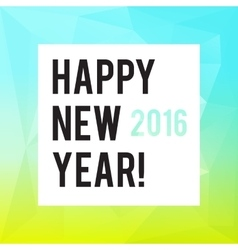 Square new year design with polygonal gradient vector