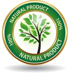 Natural product eco friendly website icon vector