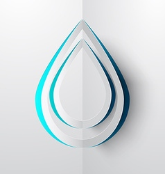 Water drop paper cut vector