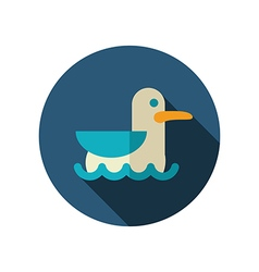 Seagull flat icon summer vacation vector