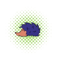 Hedgehog icon pop-art style vector