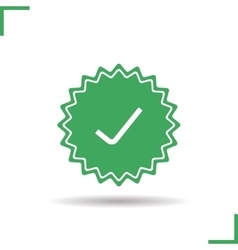 Approved sticker icon vector