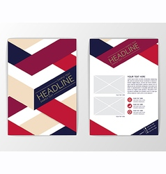 A4 abstract background brochure flyer vector