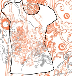 Abstract t-shirt design vector image vector image