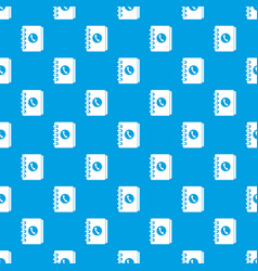 Address book pattern seamless blue vector