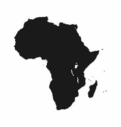 africa map monochrome africa continent icon vector image vector image