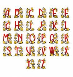 Alphabet Art Nouveau vector image