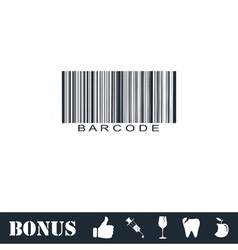 Bar code icon flat vector image