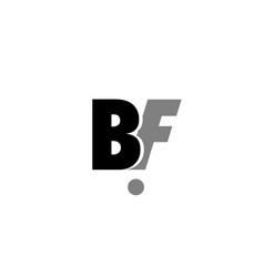 bf b f black white grey alphabet letter logo icon vector image vector image