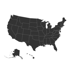 Blank map of USA vector image