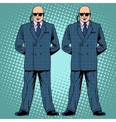 Bodyguards cordon protection secret service agents vector