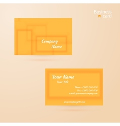 business template or visiting card vector image