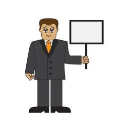 Cartoon tired businessman vector image vector image