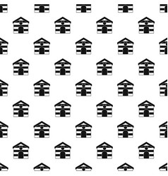 Cat house pattern vector