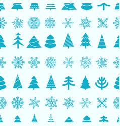 christmas seamless background merry christmas and vector image