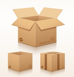 Collection corrugated box recycle vector
