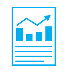 Financial report or income statement icon on vector
