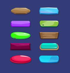 funny cartoon long horizontal buttons set vector image