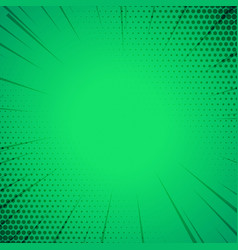 green comic book style template background vector image