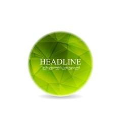 Green polygonal round sphere design vector image vector image