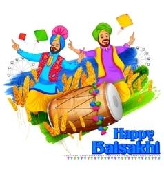 Happy Baisakhi background vector image vector image