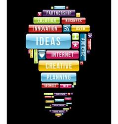 Innovation ideas light bulb vector image