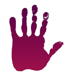 Old man left hand print vector