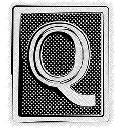 Polka Dot Font LETTER Q vector image