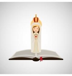 Religion catolic virgin mary immaculate haert vector