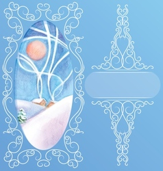 Rich decorated elegant ornament background of peek vector