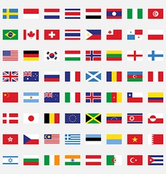 Set of rectangle flags flat design vector image vector image