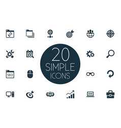 Set of simple review icons vector